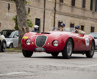 Biondetti Jaguar Special 1950. Mille miglia 2014 italy history vintage car retro royalty free stock images