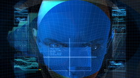 Bionic 3D kobiety profil (HD pętla) royalty ilustracja