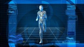 Bionic 3D mężczyzna bieg (HD pętla) ilustracja wektor
