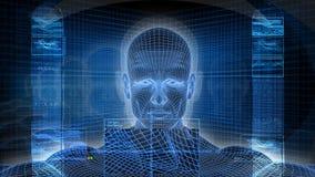 Bionic 3D mężczyzna profil (HD pętla) ilustracji
