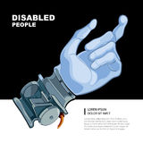 Bionic hand Royalty Free Stock Image