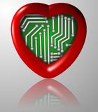 Bionic heart Royalty Free Stock Photo