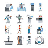 Bionic Icons With Surgical And Diagnostic Equipment Royalty Free Stock Photos
