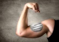 Bionic man Stock Photo