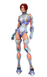 Bionic woman stand up Stock Image