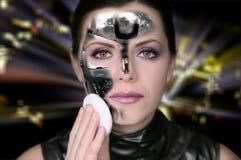 Bionische vrouw Royalty-vrije Stock Afbeeldingen