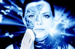 Bionische vrouw Royalty-vrije Stock Foto's