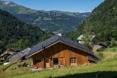 Bionnassay, haute Savoie, Frankrijk stock afbeeldingen