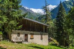 Bionnassay, haute Savoie, Frankrijk stock foto's