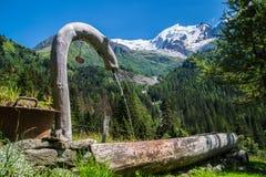 Bionnassay, haute Savoie, Frankrijk stock fotografie