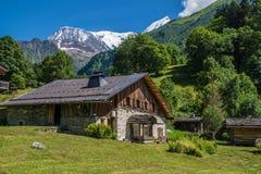 Bionnassay, haute Savoie, Frankrijk royalty-vrije stock foto's
