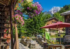 Bionnassay, haute Savoie, Frankrijk stock foto