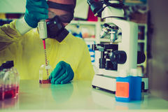 Biopharmaceutical Ebolavirus royalty-vrije stock foto