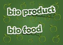 Bioprodukt und Bionahrung Stockfoto