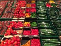 Bioprodukte in einem Einzelhandelsgeschäft Stockfotos