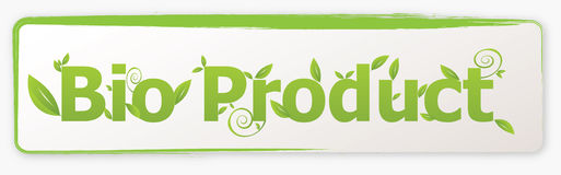 Bioproduktmarke Lizenzfreie Stockfotos