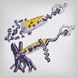 Bioquímica del dibujo ilustración del vector