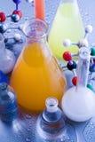Bioquímica y átomo fotos de archivo libres de regalías