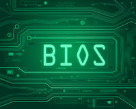 BIOS concept. Abstract style illustration depicting printed circuit board components with a bios concept Royalty Free Stock Image