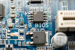 BIOS of Motherboard stock images