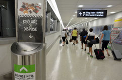 Biosecurity in Auckland international Airport Stock Photos