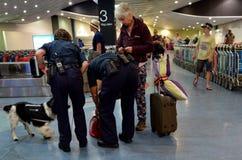 Biosecurity in de internationale Luchthaven van Auckland stock foto's