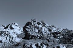 biosfär costa de del få naturlig natur för det just kilometerlasmarbella berg nieves kast för sten för solenoid spain för toppig  arkivbild