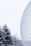 Biosfär i Montreal, Kanada Arkivbilder