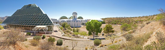 Biosfär 2 - panorama Arkivbild