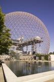 Biosfären är en unik och spektakulär plats, gamla U S Pavillion på expo 67 i Montreal Fotografering för Bildbyråer