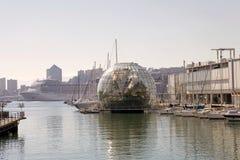 Biosfären, Genua, Italien Arkivbild