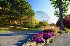 Biosfeer, Montreal, de Herfst, Quebec Canada Stock Foto's