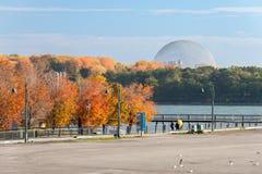 Biosfera di MontMontreal, dal vecchio porto di Montreal fotografia stock