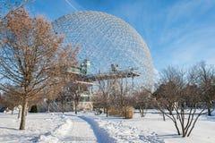 Biosfera di Montreal in Parc Jean Drapeau immagini stock