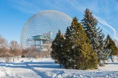 Biosfera di Montreal in Parc Jean Drapeau fotografie stock