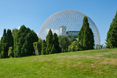 Biosfera en Montreal imagen de archivo