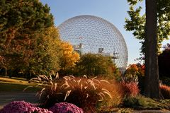 Biosfera, Montreal, jesień, Quebec Kanada Obraz Stock