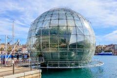 Biosfera Oporto Antico Genova, Liguria, Italia immagine stock