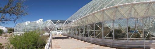 Biosfera 2 - panorama immagine stock libera da diritti