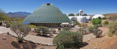 Biosfera 2 - panorama imágenes de archivo libres de regalías