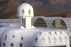 Biosfera 2 y bibliotecas de alojamiento en Oracle en Tucson, AZ imagen de archivo libre de regalías