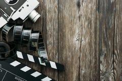 Bioskoop en het filmmaking stock afbeelding