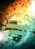 Bioskoop of filmachtergrond Stock Afbeeldingen