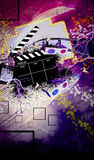 Bioskoop of filmachtergrond Royalty-vrije Stock Fotografie