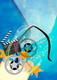 Bioskoop of filmachtergrond Stock Afbeelding