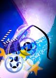 Bioskoop of filmachtergrond Royalty-vrije Stock Foto's