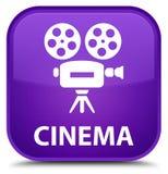 Bioskoop (videocamerapictogram) speciale purpere vierkante knoop Stock Afbeelding