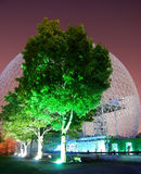 Biosphere. Montreal biosphere at night on Ste-Helene island Royalty Free Stock Photo