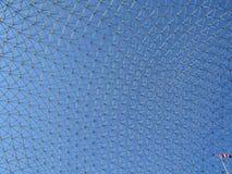 Biosphere_3 mit kanadischer Markierungsfahne Stockfotos