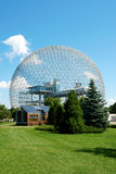 Biosphere. The geodesic dome called Biosphere is a museum in Montreal dedicated to water and the environment. It is located at Parc Jean-Drapeau, on Saint Helen' stock image